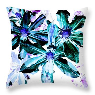 Throw Pillow featuring the photograph Organic Techno Flowers by Lisa Brandel