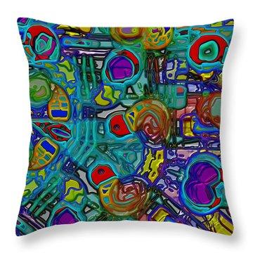 Organized Chaos Throw Pillow by Alec Drake