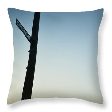 Oriental Avenue  Atlantic City Throw Pillow by Bill Cannon