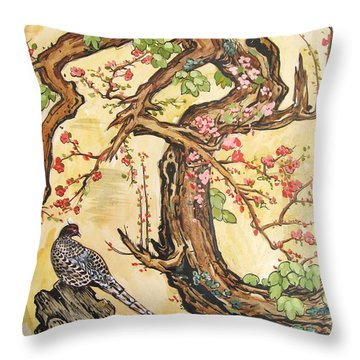Oriental Landscape2 Throw Pillow by Michail Noskov