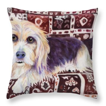 Oriental Toy Throw Pillow by Pat Saunders-White