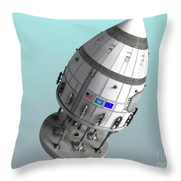 Orion-drive Spacecraft In Standard Throw Pillow by Rhys Taylor