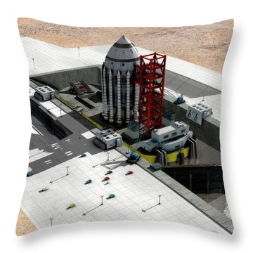 Orion-drive Spacecraft On A Remote Throw Pillow by Rhys Taylor