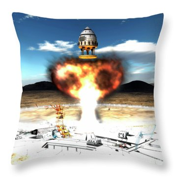 Orion-drive Spacecraft Using Atomic Throw Pillow by Rhys Taylor