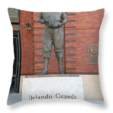 Orlando Cepeda At San Francisco Giants Att Park .7d7631 Throw Pillow