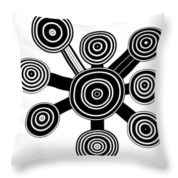 Ornament - Primitive Art Throw Pillow by Michal Boubin