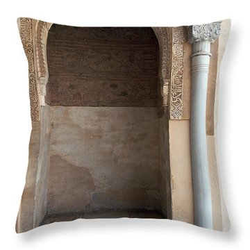 Ornate Arch And Pillar Throw Pillow