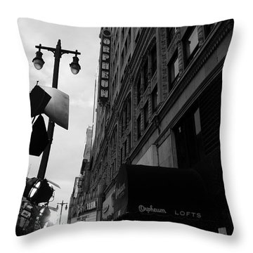 Throw Pillow featuring the photograph Orpheum Theater by Nina Prommer