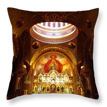 Orthodox Church In Los Angeles, California Throw Pillow