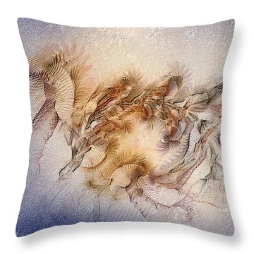 Orthography Of The Chant Throw Pillow by Casey Kotas
