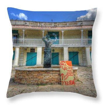 Oscar E. Henry Customs House Throw Pillow by Shelley Neff