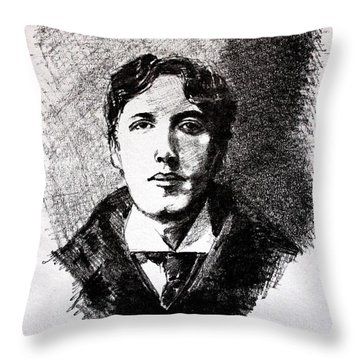 Oscar Wilde Throw Pillow by John  Nolan