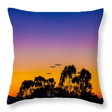 Throw Pillow featuring the photograph Osibisa Dawn by Chris Lord