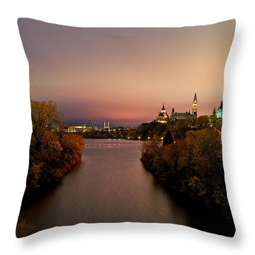 Ottawa At Night Throw Pillow