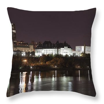 Ottawa Skyline Throw Pillow by Eunice Gibb