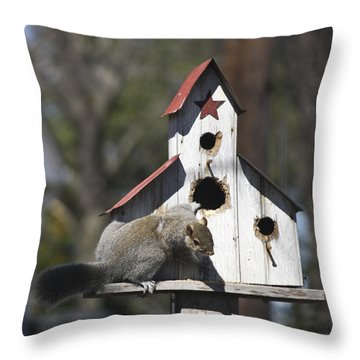 Our Girl Chubby Throw Pillow by Teresa Mucha