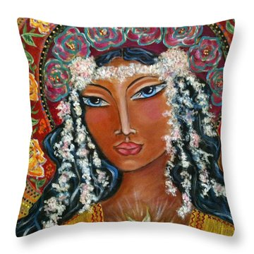 Our Lady Of Lost Causes Throw Pillow by Maya Telford