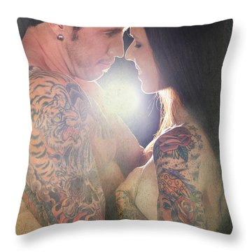 Our Love Shines Throw Pillow by Laurie Search