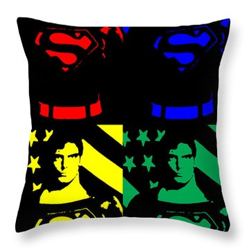 Our Man Of Steel Throw Pillow by Saad Hasnain