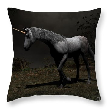 Out From Shadows Throw Pillow
