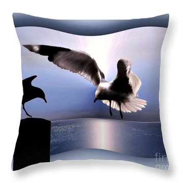 Out Of Bounds Throw Pillow by Dale   Ford