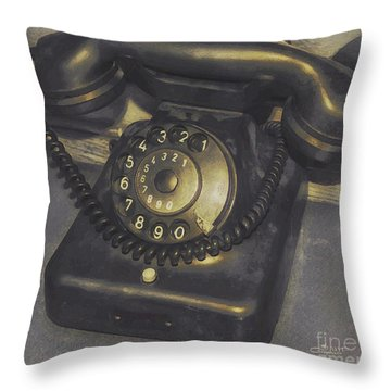 Out Of Service Throw Pillow by Jutta Maria Pusl