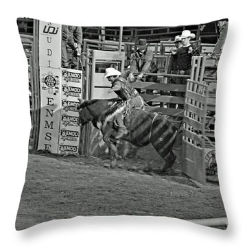 Out Of The Chute Throw Pillow by Shawn Naranjo