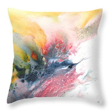 Out Of The Nest Throw Pillow by Miki De Goodaboom