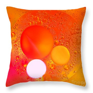 Out There Throw Pillow by Olivier Le Queinec