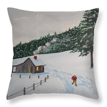 Out To Get The Mail Throw Pillow