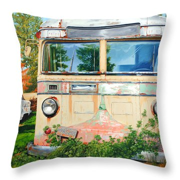 Out Where The Buses Don't Run Throw Pillow