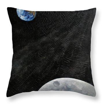 Outer Space Throw Pillow by Alan Schwartz