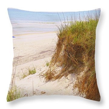 Throw Pillow featuring the photograph Outerbanks by Lydia Holly