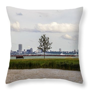 Outside Of The Inside Throw Pillow by CJ Schmit