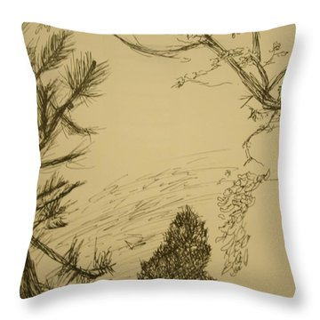 Outside Throw Pillow