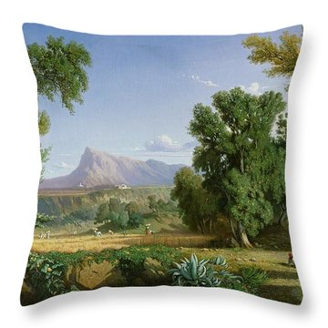 Outskirts Of Valdemusa Throw Pillow by Adolphe Paul Emile Balfourier