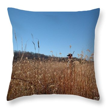 Throw Pillow featuring the photograph Outstanding In His Field by Mark McReynolds