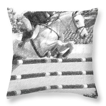 Over Easy Throw Pillow by Carrie Cranwill