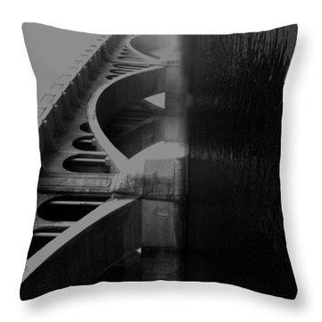 Over The Bridge Throw Pillow by Jerry Cordeiro