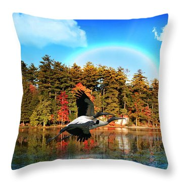 Over The Rainbow Throw Pillow by Mark Ashkenazi