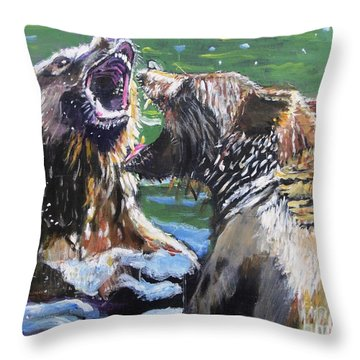 Throw Pillow featuring the painting Overbearing by Judy Kay