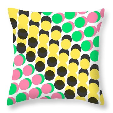 Overlayed Dots Throw Pillow