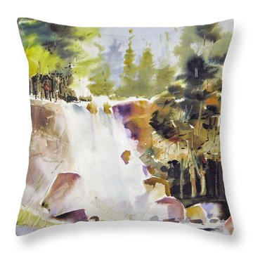 Overlooking The Falling Throw Pillow