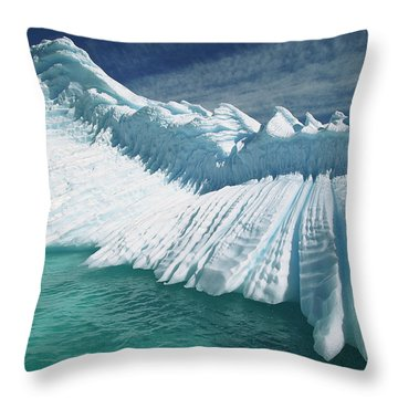 Overturned Iceberg With Eroded Edges Throw Pillow by Colin Monteath