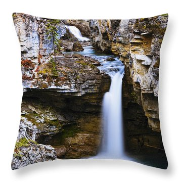 Overview Of Icefields Parkway, Beauty Throw Pillow by Yves Marcoux