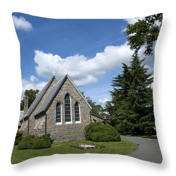 Throw Pillow featuring the photograph Oxford Church by Charles Kraus