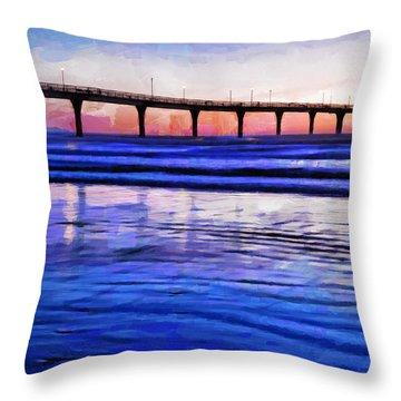 Pacific Blue  Throw Pillow by Steve Taylor