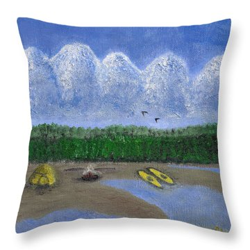Pacific Northwest Camping Throw Pillow