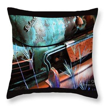 Packard On Ice Throw Pillow by Joe Jake Pratt
