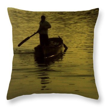 Throw Pillow featuring the photograph Paddle Boy by Lydia Holly